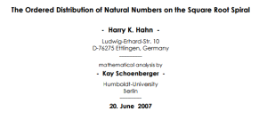 Ordered distribution of natural numbers