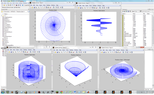 Pictures of Matlab Theodorus Spirals